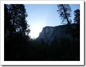 View of Half Dome from our camp site